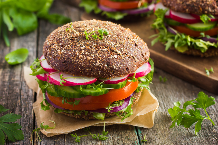 Svhnell abnehmen - veganer Burger