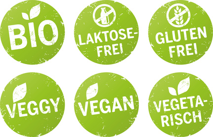 Vegan abnehmen - Logo